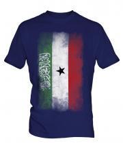 Somaliland Faded Flag Mens T-Shirt