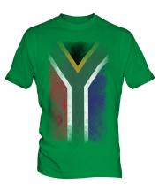 South Africa Faded Flag Mens T-Shirt