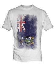 South Georgia Faded Flag Mens T-Shirt