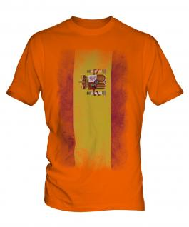 Spain Faded Flag Mens T-Shirt