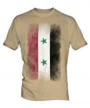 Syria Faded Flag Mens T-Shirt