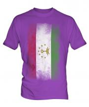 Tajikistan Faded Flag Mens T-Shirt