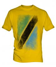 Tanzania Faded Flag Mens T-Shirt
