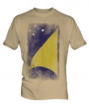 Tokelau Faded Flag Mens T-Shirt
