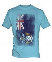 Tristan Da Cunha Faded Flag Mens T-Shirt