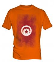 Tunisia Faded Flag Mens T-Shirt