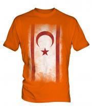 Turkish Republic Of Northern Cyprus Faded Flag Mens T-Shirt