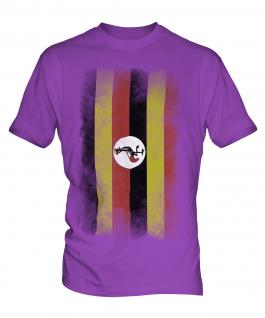 Uganda Faded Flag Mens T-Shirt