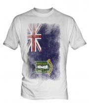 Uk Virgin Islands Faded Flag Mens T-Shirt