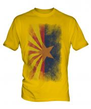 Arizona State Faded Flag Mens T-Shirt