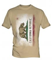 California State Faded Flag Mens T-Shirt