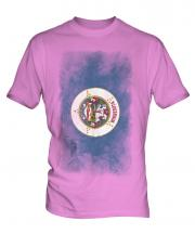 Minnesota State Faded Flag Mens T-Shirt