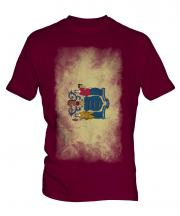 New Jersey State Faded Flag Mens T-Shirt