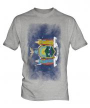 New York State Faded Flag Mens T-Shirt