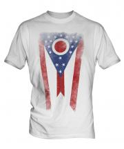 Ohio State Faded Flag Mens T-Shirt