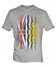 British Columbia Faded Flag Mens T-Shirt
