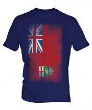 Manitoba Faded Flag Mens T-Shirt
