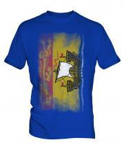 New Brunswick Faded Flag Mens T-Shirt