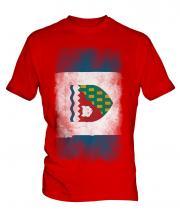 Northwest Territories Faded Flag Mens T-Shirt