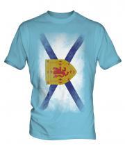 Nova Scotia Faded Flag Mens T-Shirt