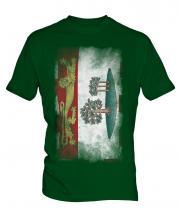Prince Edward Island Faded Flag Mens T-Shirt