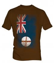 New South Wales Faded Flag Mens T-Shirt