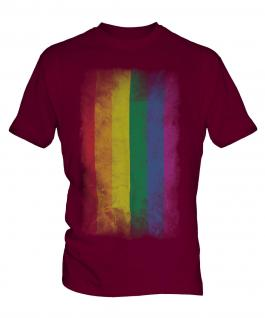 Gay Pride Faded Flag Mens T-Shirt