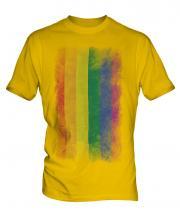 Gay Pride Faded Flag Mens T-Shirt
