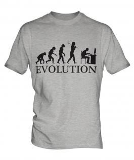 Computer Geek Evolution Mens T-Shirt