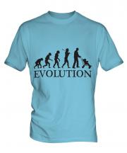Dad With Pushchair Evolution Mens T-Shirt