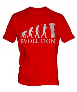 Cameraman Evolution Mens T-Shirt