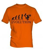 Motorbike Stunt Rider Evolution Mens T-Shirt