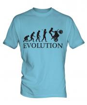 Motorbike Stunt Rider Evolution Mens T-Shirt