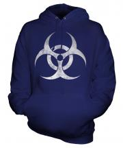 Radioactive Distressed Print Unisex Adult Hoodie