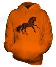 Rearing Horse Sketch Unisex Adult Hoodie