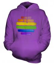 Gay Pride Watercolour Unisex Adult Hoodie