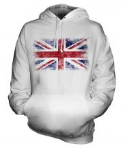Union Jack Distressed Flag Unisex Adult Hoodie
