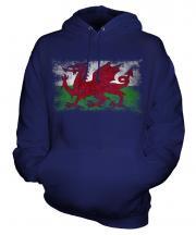 Wales Distressed Flag Unisex Adult Hoodie