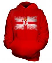 Northern Ireland Distressed Flag Unisex Adult Hoodie