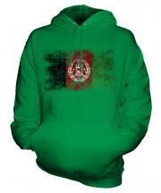 Afghanistan Distressed Flag Unisex Adult Hoodie