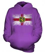 Alderney Distressed Flag Unisex Adult Hoodie