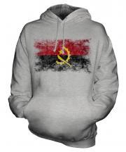 Angola Distressed Flag Unisex Adult Hoodie