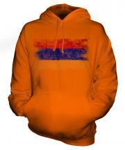 Armenia Distressed Flag Unisex Adult Hoodie