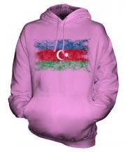 Azerbaijan Distressed Flag Unisex Adult Hoodie