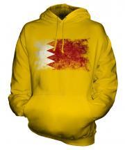 Bahrain Distressed Flag Unisex Adult Hoodie