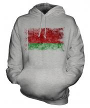 Belarus Distressed Flag Unisex Adult Hoodie