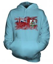 Bermuda Distressed Flag Unisex Adult Hoodie