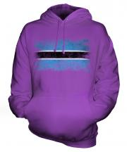 Botswana Distressed Flag Unisex Adult Hoodie