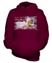 British Antartic Territory Distressed Flag Unisex Adult Hoodie