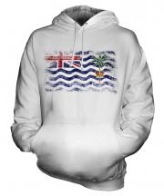 British Indian Ocean Territory Distressed Flag Unisex Adult Hoodie